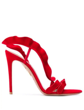 Ruffle 105 Sandals by Aquazzura