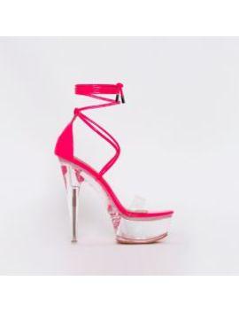 Destiny Hot Pink Patent Clear Platform Heels by Simmigirl