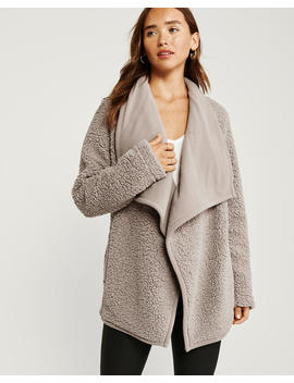 Sherpa Cardigan by Abercrombie & Fitch