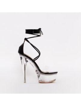 Destiny Black Patent Clear Platform Heels by Simmigirl
