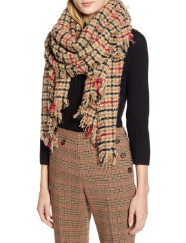 X Atlantic Pacific Plaid Blanket Scarf by Halogen®