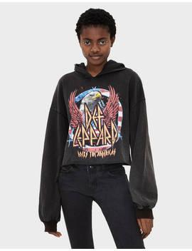 Def Leppard Sweatshirt by Bershka