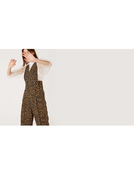 Black And Brown Leopard Drew Culotte Jumpsuit Boom!You're With Us Now. by Nobody's Child
