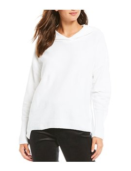 Hooded Boxy Organic Cotton Top by Eileen Fisher