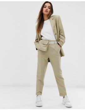 Asos Design Dad Blazer & Tapered Trousers Suit In Sand by Asos