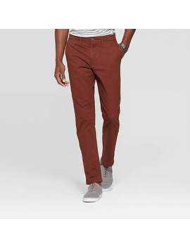 "Men's 32"" Athletic Fit Chino Pants   Goodfellow & Co™ Pecan Pie by Goodfellow & Co"