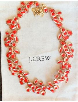 Sale!!Nwt $159 J.Crew Crystal Cluster Stone Necklace   Color Pink by J.Crew