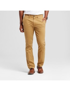 Men's Athletic Fit Hennepin Chino Pants   Goodfellow & Co™ Light Brown by Goodfellow & Co