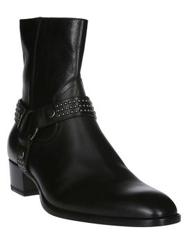 Saint Laurent Harness Studded Ankle Boots by Saint Laurent Saint Laurent