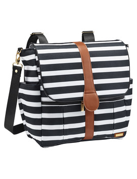 Jj Cole Backpack Diaper Bag Black & White Stripe by Jj Cole