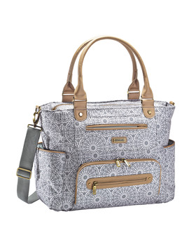 Jj Cole Caprice Diaper Bag   Gray Moroccan by Jj Cole