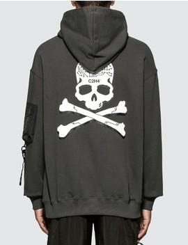 C2 H4 X Mastermind Japan Skull Print Zip Pocket Hoodie by C2 H4 Los Angeles