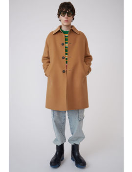 Double Face Coat Camel Brown by Acne Studios