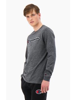 Script Logo Cotton Jersey T Shirt by Champion