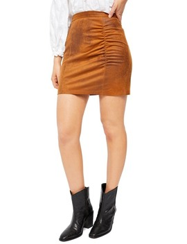 Rumi Ruched Mini Skirt by Free People