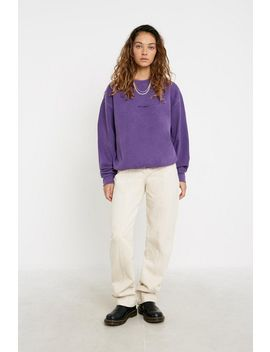 Iets Frans... Washed Purple Crew Neck Sweatshirt by Iets Frans...