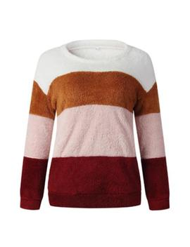 'brenda' Color Block Fleece Sweater (2 Colors) by Goodnight Macaroon