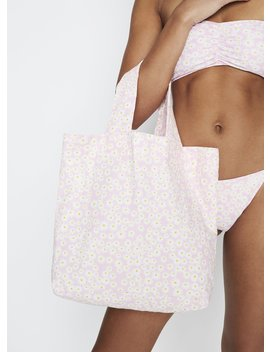 Dusty Floral Print   Pink   Market Tote Bag by Faithfull The Brand