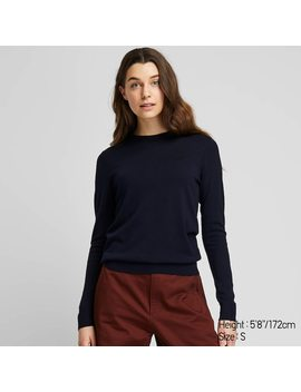 Pull En MÉrinos Extra Fin À Col Rond Femme by Uniqlo