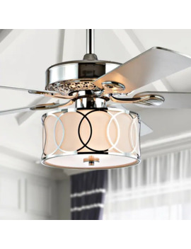 "Circe 52"" 3 Light Drum Led Ceiling Fan With Remote, By Jonathan Y by Jonathan Y"