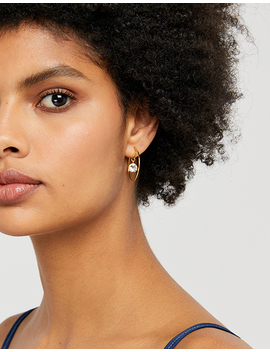 Suspended Hoop Earrings With Swarovski® Crystals by Accessorize
