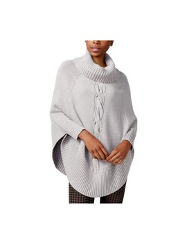Maison Jules Womens Cable Knit Poncho Sweater by Maison Jules