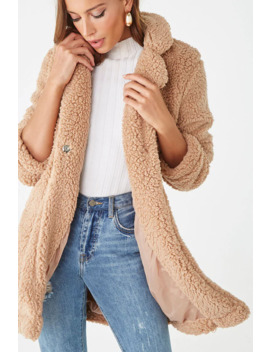 Oversized Teddy Coat by Forever 21
