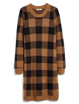 Buffalo Check Long Sleeve Sweater Dress by Madewell