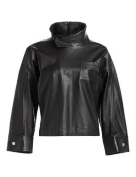 Leather Zippered Blouse by 3.1 Phillip Lim