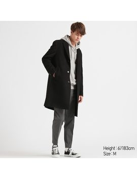 Men Wool Cashmere Blend Chesterfield Coat (2) by Uniqlo