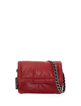 The Pillow Shiny Leather Shoulder Bag by Marc Jacobs