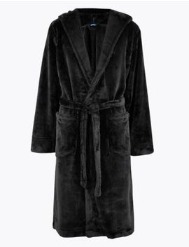 Supersoft Fleece Hooded Dressing Gown by Marks & Spencer