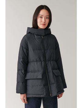 Padded Hooded Coat by Cos