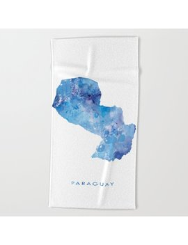 Paraguay Beach Towel by Society6