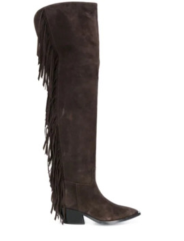 Fringed Thigh Length Boots by A.F.Vandevorst
