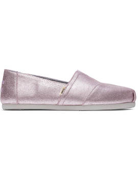 Lavender Metallic Leather Women's Classics by Toms