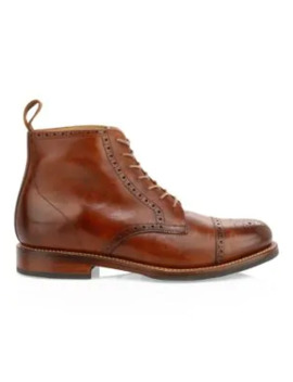 Shane Leather Brogue Boots by Grenson