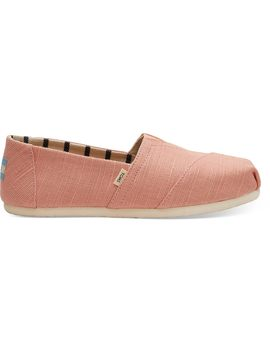 Coral Pink Heritage Canvas Women's Classics Venice Collection by Toms