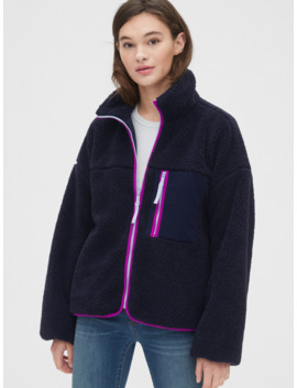 Sherpa Full Zip Jacket by Gap