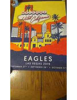 The Eagles Las Vegas 2019 Concert Poster #141/350 Hotel California Mgm Sold Out by Ebay Seller