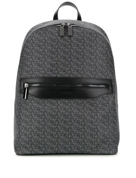 Logo Print Backpack by Canali