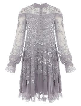 Ava Embroidered Sheer Dress by Needle & Thread