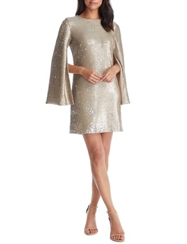 Liza Cape Sleeve Sequin Minidress by Dress The Population