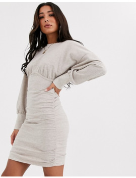 Asos Design Underwire Sweat Dress With Ruching by Asos Design