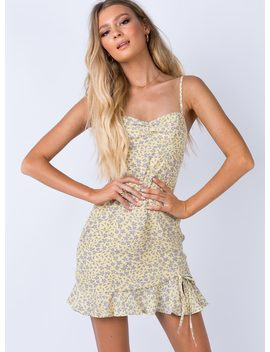 Tarkine Mini Dress Yellow by Princess Polly