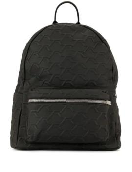 Monogram Embossed Backpack by Represent