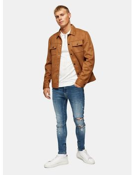 Mid Wash Ripped Spray On Jeans by Topman