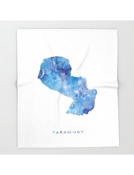 Paraguay Throw Blanket by Society6