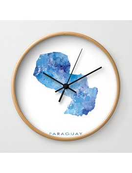 Paraguay Wall Clock by Society6