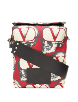 Valentino X Undercover Repeat Skull Print Cross Body Bag by Valentino